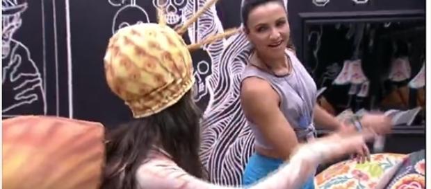 Emilly faz ameaça de ir ao confessionário (foto: reprodução TV Globo)