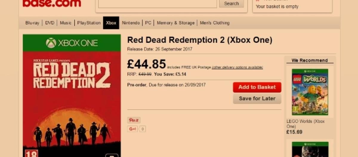 Red Dead Redemption 2': Will it be released on Xbox One