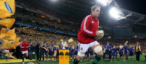 Akun Wyn-Jones leads out the Lions for the Third Test against Australia in 2013- walesonline.co.uk