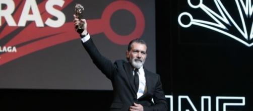 Antonio Banderas recoge la Biznaga de Oro Honorífica.