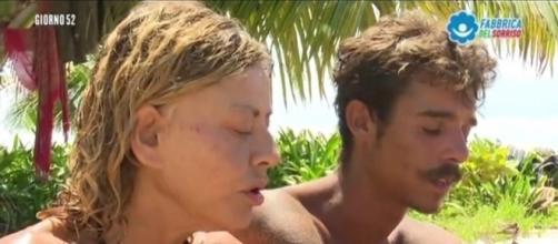 Isola, scoppia la lite tra Eva e Moreno