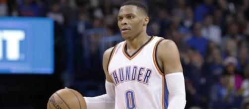 NBA MVP candidate Russell Westbrook leads the Thunder into Houston on Sunday. [Image via Blasting News image library/inquisitr.com]