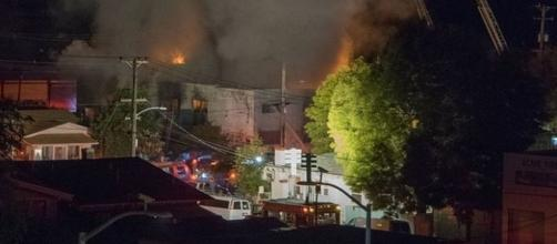 Photo shows the disastrous fire at the Ghost Ship warehouse in Oakland on Dec. 2, that killed 36 (Photo: Janna487/Wikimedia Commons)