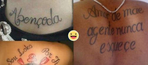 Por falta de atenção do tatuador, algumas tatuagens saem com erros imperdoáveis