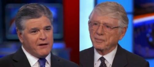 Sean Hannity and Ted Koppel, via Twitter