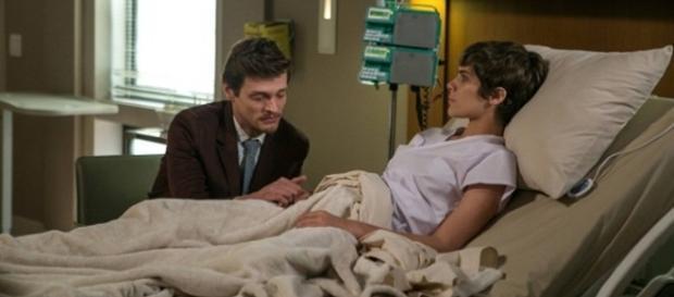 Antonio e Letícia na novela 'A Lei do Amor'