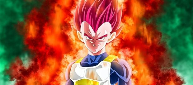 Dragon Ball Super, vegeta super saiyajin red
