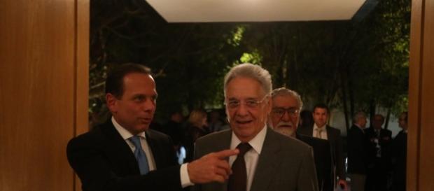 Ex-presidente Fernando Henrique Cardoso se encontrou com o prefeito de São Paulo, João Doria, para tratar sobre candidatura à presidência em 2018