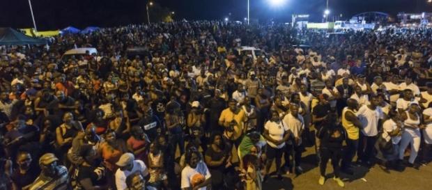 Manifestación en la Guayana Francesa contra la grave crisis de la colonia francesa en Sudamérica.