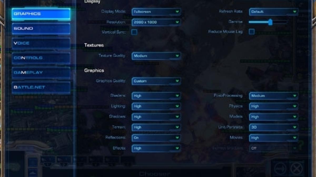 Starcraft Remastered Video Settings