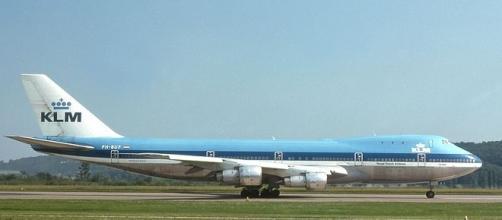 Imagen de un avión de la línea KLM