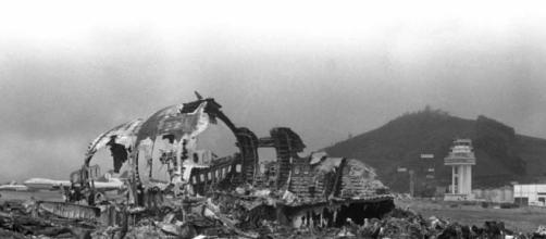 Imagen del accidente en Tenerife, en 1977