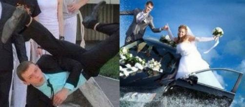 Muitas fotos de casamento acabam saindo estranhas e hilárias