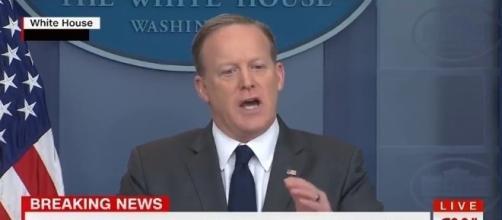 Sean Spicer at White House, via YouTube
