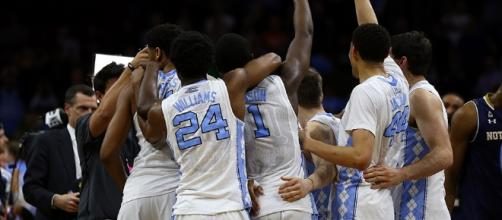 The Tar Heels are celebrating another Final Four appearance after Sunday's close win. [Image via Blasting News image library/inquisitr.com]