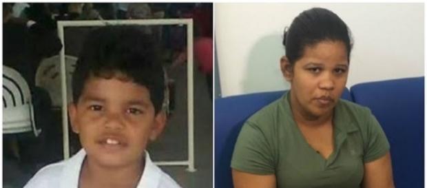 Alexandra Moura da Silva é acusada de mandar matar o filho de 7 anos (Fotos: Reprodução/Polícia Civil da Bahia)