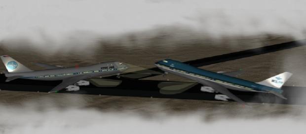 Imagen de simulación del accidente en Los Rodeos
