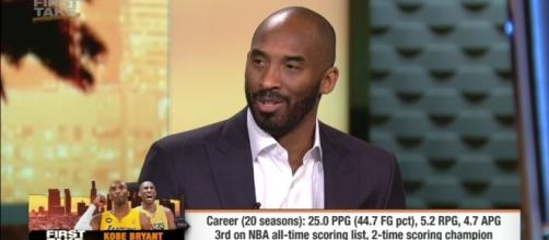 Kobe Bryant, Photo credit: ESPN screenshot