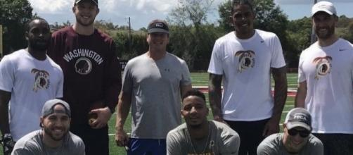Picture via SnapChat/Terrelle Pryor and redskins.com: Jon Gruden worked with Redskins players in Tampa Bay, Florida today...