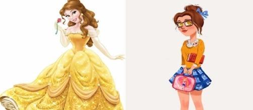 Bela é uma das princesas da Disney que aparecem com visual dos dias atuais