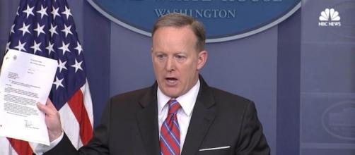 Spicer: '100% False' That WH Blocked Yates Testimony / Photo by nbcnews.com via Blasting News library