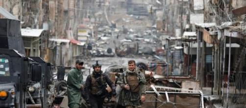 Uno squarcio della distruzione di Mosul