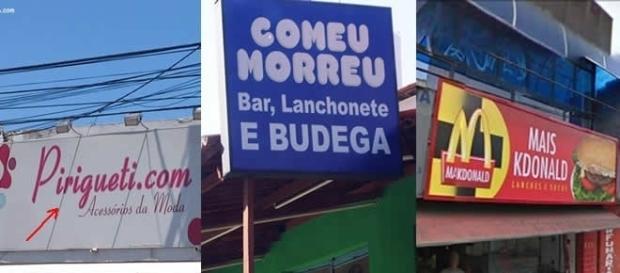 Nomes de lojas diferentes e criativos