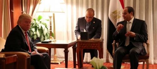 Egyptian president al-Sisi and President Trump in 2016 / Photo by ynetnews.com via Blasting News library