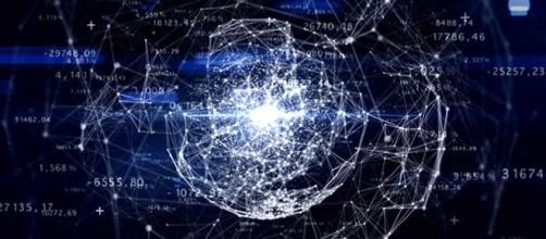 O mundo conectado através de uma rede de computadores