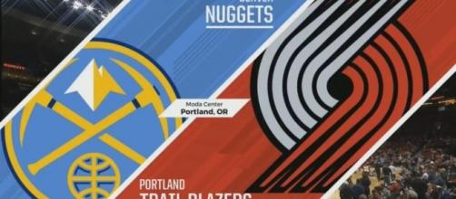 Image source: Youtube screenshot #Nuggets #Blazers