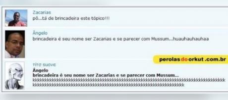 Zacarias e Mussum em uma das maiores pérolas do Orkut