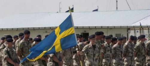 Dei soldati dell'esercito svedese