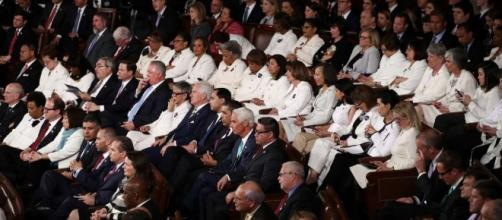 Democratic women were wearing white during Trump's ... - sfgate.com