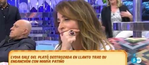 María Patiño estalla y Lydia Lozano abandona el plató descompuesta y llorando