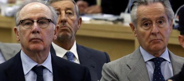 Rato y Blesa en el banquillo de los juzgados