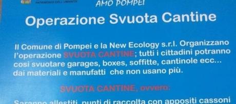 """Il manifesto dell'iniziativa """"Svuota Cantine"""""""
