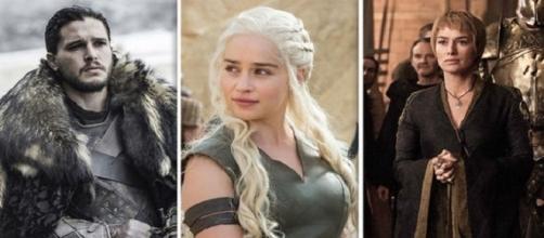 Jon Nieve, Daenerys Targaryen y Cersei Lannister. HBO.