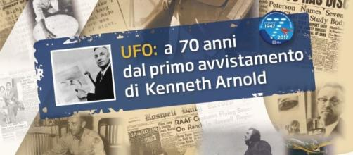 Locandina del 'Convegno Nazionale Straordinario' di ufologia di Roma.