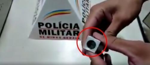 O armamento caseiro foi criada para caber uma munição calibre 22