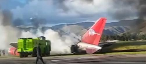 Passenger jet catches fire in Peru - no injuries reported | Euronews - euronews.com