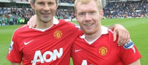 Ryan Giggs y Paul Scholes leyendas del Manchester United