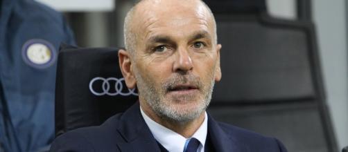 Stefano Pioli sulla panchina dell'Inter