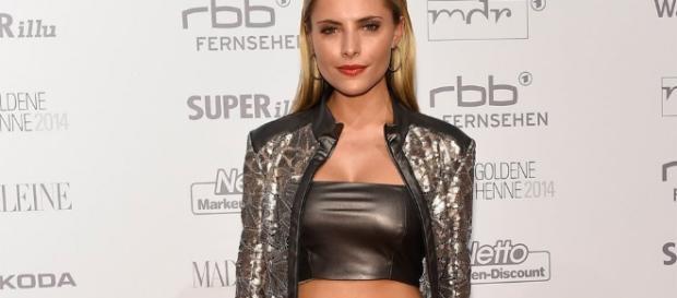 Celebrities In Leather: Sophia Thomalla wears a black leather ... - pinterest.com