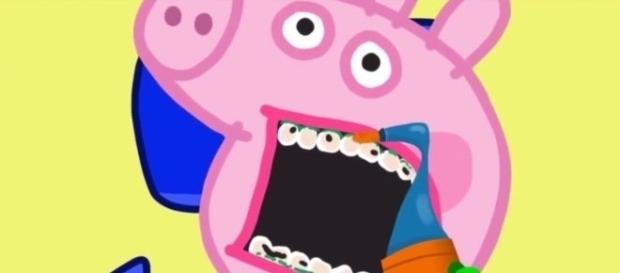 Peppa Pig numa visita ao dentista.