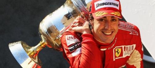 Fernando Alonso during happy times at Ferrari. (Source:pinterest.com)