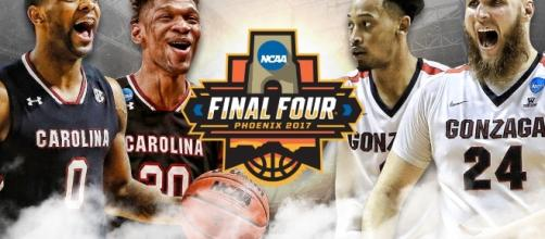 Gonzaga vs South Carolina y North Carolina vs Oregon es el Final Four del 2017