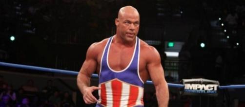 Kurt Angle headlines the 2017 WWE Hall of Fame Class on Friday night. [Image via Blasting News image library/inquisitr.com]