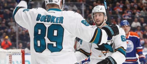 Mikkel Boedker's hat trick powers Sharks past Oilers - NHL on CBC ... - cbc.ca