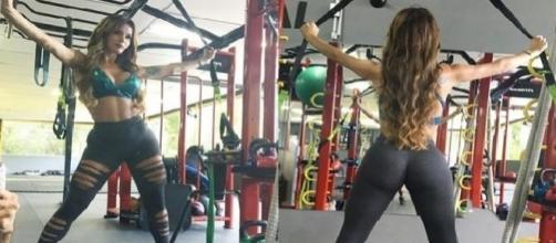Modelo transexual Thalita Zampirolli arrasa em fotos na acdemia