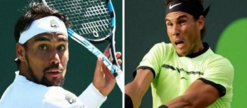 Rafa Nadal vince la semifinale dell'ATP di Miami contro l'italiano Fognini.